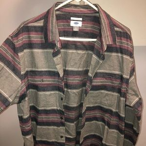 Old Navy Striped Flannel
